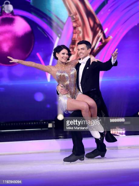 Lucrezia Millarini and Brendyn Hatfield during the Dancing On Ice 2019 photocall at ITV Studios on December 09 2019 in London England