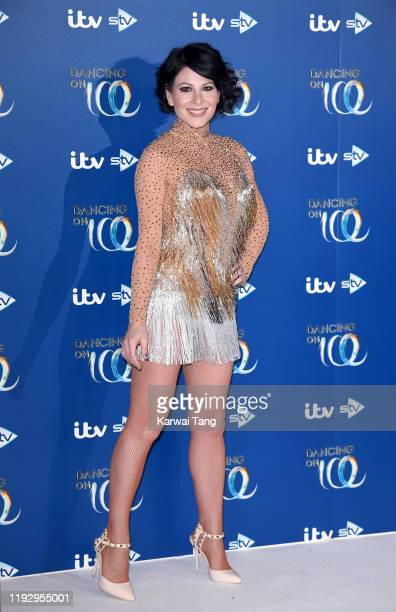 Lucrezia Millarini attends the Dancing On Ice 2019 photocall at the Dancing On Ice Studio ITV Studios Old Bovingdon Airfield on December 09 2019 in...