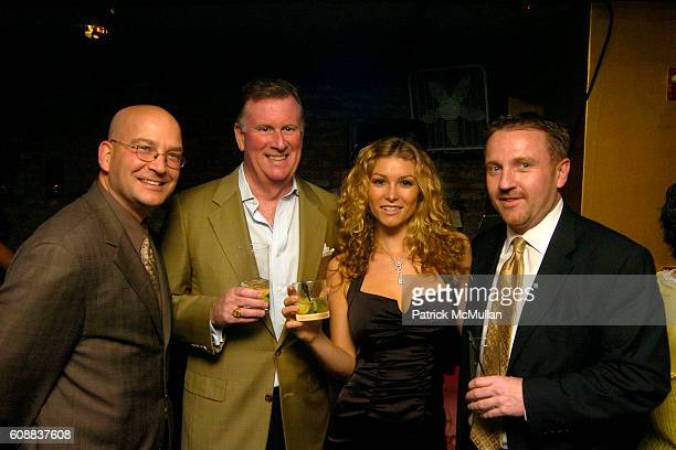 PJ Lucus Joe Delaney Heather Vandeven and Rich Mcentee attend Drambuie Den Event with Special Guest Heather Vandeven at Level V on October 22 2007 in...