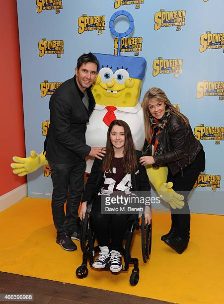 Lucy Alexander and Family attends a special Mother's Day screening of 'The SpongeBob Movie Sponge Out of Water 3D' at the Ham Yard Hotel on March 15...