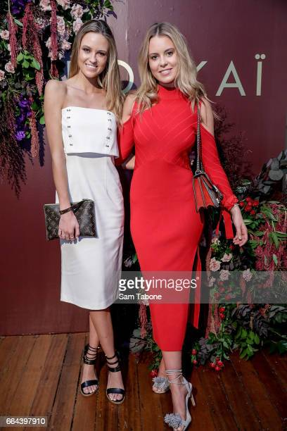 Lucy and Ruby Brownless arrives ahead of the KOOKAI AW17 Media Showcase at The George Ballroom on April 4 2017 in Melbourne Australia