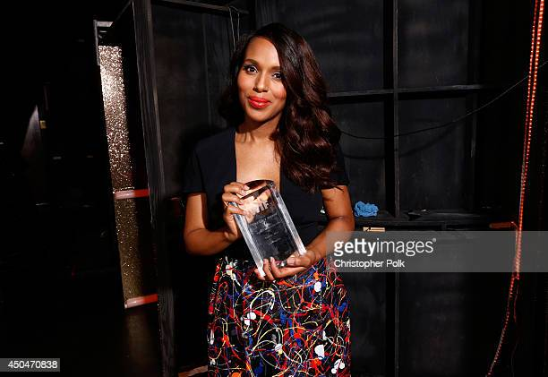 Lucy Award for Excellence in Television recipient Kerry Washington attends Women In Film 2014 Crystal Lucy Awards presented by MaxMara BMW...