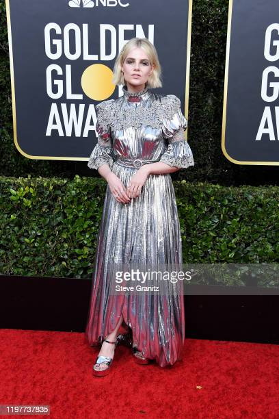 Lucy Baynton attends the 77th Annual Golden Globe Awards at The Beverly Hilton Hotel on January 05, 2020 in Beverly Hills, California.