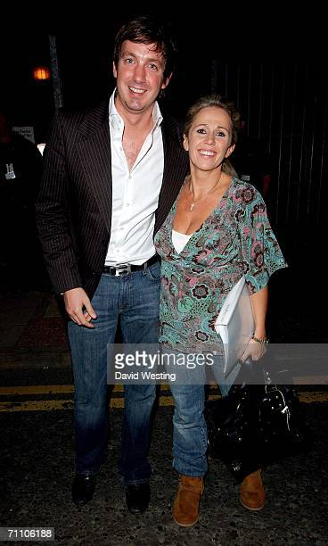 Lucy Benjamin and Husband Richard Taggart leave Celebrity X Factor on May 29, 2006 in London, England.