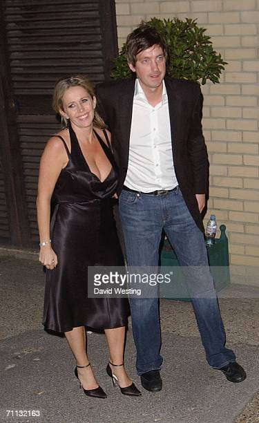 Lucy Benjamin and Husband Richard Taggart leave Fountain Studios following the final of reality TV show ?The X Factor: Battle Of The Stars? in...
