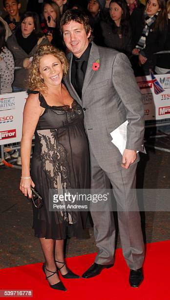 Lucy Benjamin and Richard Taggart arrive at the Daily Mirror Pride of Britain Awards 2006 at ITV Television Centre in London.