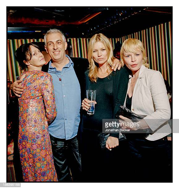 Lucy Birley Loulou's interior designer Rifat Ozbek Kate Moss and Flora Starkey are photographed at 5 Hertford Street which is home to the nightclub...