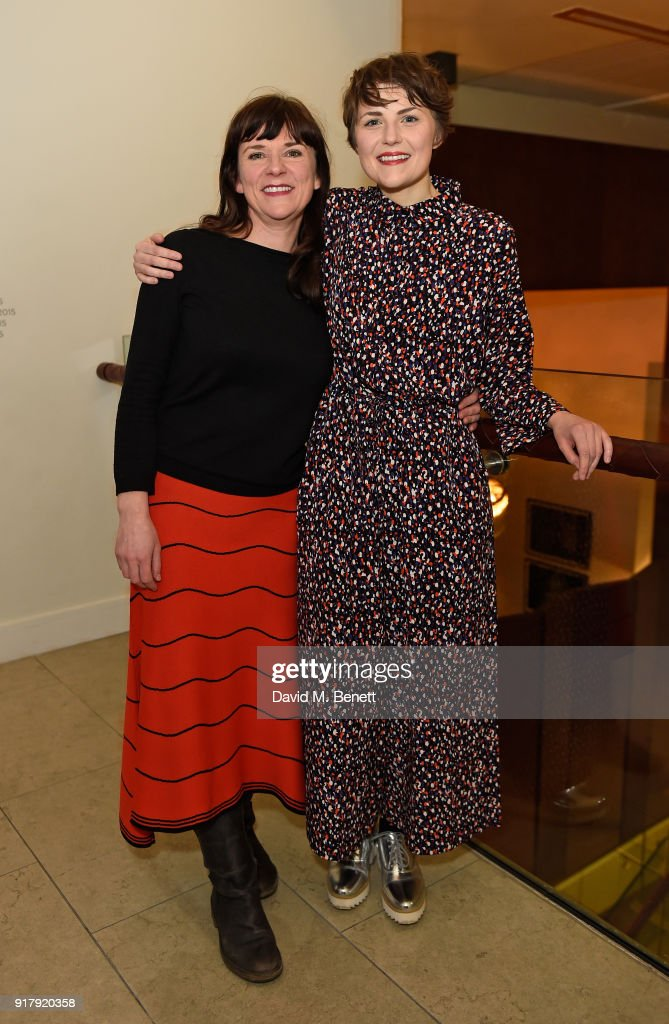 Lucy Black and Katie West attend the press night after party for 'The York Realist' at The Hospital Club on February 13, 2018 in London, England.