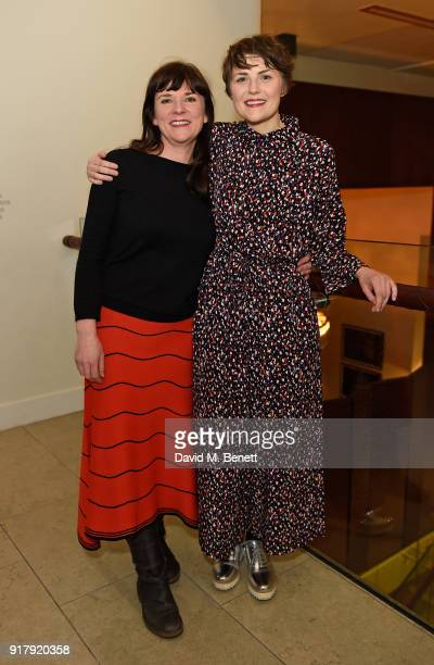 Lucy Black and Katie West attend the press night after party for 'The York Realist' at The Hospital Club on February 13 2018 in London England