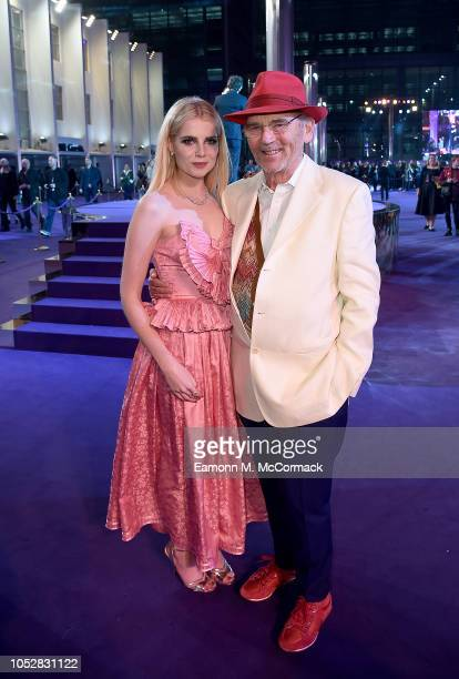 Lucy Boynton and Jim Beach attend the World Premiere of 'Bohemian Rhapsody' at SSE Arena Wembley on October 23 2018 in London England