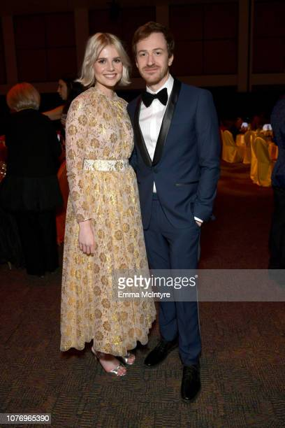 Lucy Boynton and Joseph Mazzello attend the 30th Annual Palm Springs International Film Festival Film Awards Gala at Palm Springs Convention Center...