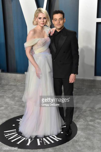 Lucy Boynton and Lucy Boynton attend the 2020 Vanity Fair Oscar Party hosted by Radhika Jones at Wallis Annenberg Center for the Performing Arts on...