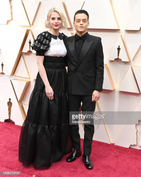 Lucy Boynton and Rami Malek arrives at the 92nd Annual Academy Awards at Hollywood and Highland on February 09, 2020 in Hollywood, California.