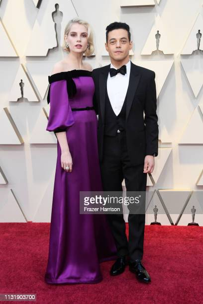 Lucy Boynton and Rami Malek attend the 91st Annual Academy Awards at Hollywood and Highland on February 24 2019 in Hollywood California