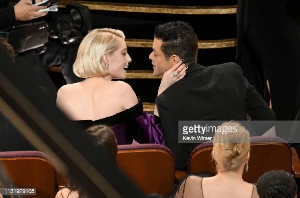 Lucy Boynton and Rami Malek attend the 91st Annual Academy Awards at Dolby Theatre on February 24 2019 in Hollywood California