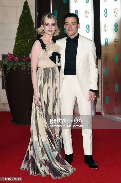 Lucy Boynton and Rami Malek attend the EE British Academy Film Awards Gala Dinner at Grosvenor House on February 10 2019 in London England