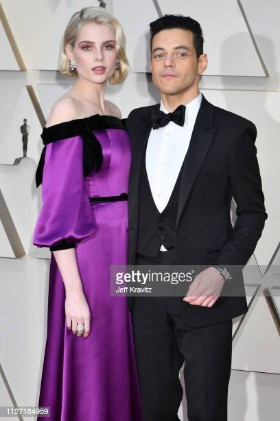 Lucy Boynton and Rami Malek attends the 91st Annual Academy Awards at Hollywood and Highland on February 24 2019 in Hollywood California