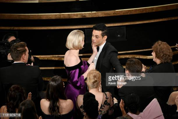 Lucy Boynton and Rami Malek during the 91st Annual Academy Awards at Dolby Theatre on February 24 2019 in Hollywood California