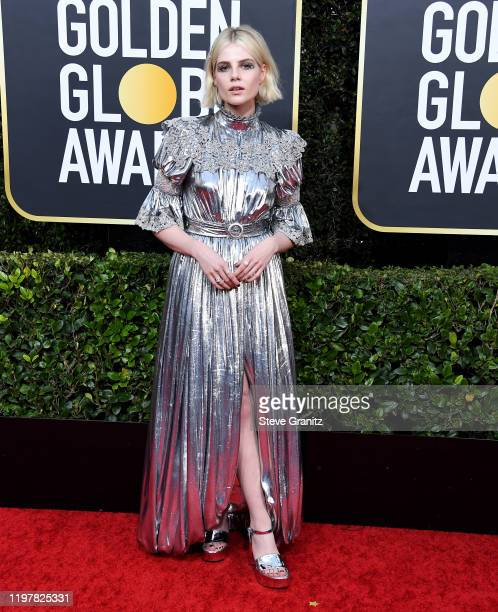 Lucy Boynton arrives at the 77th Annual Golden Globe Awards attends the 77th Annual Golden Globe Awards at The Beverly Hilton Hotel on January 05,...
