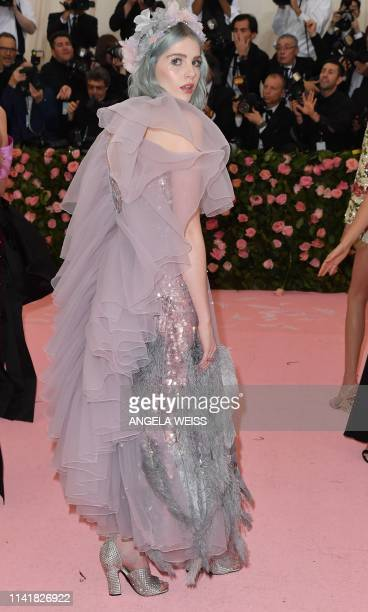 Lucy Boynton arrives for the 2019 Met Gala at the Metropolitan Museum of Art on May 6 in New York The Gala raises money for the Metropolitan Museum...