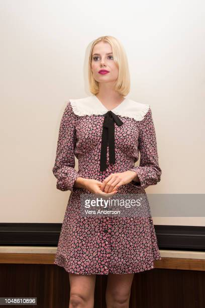 Lucy Boynton at the Bohemian Rhapsody Press Conference at the Four Seasons Hotel on October 8 2018 in Beverly Hills California