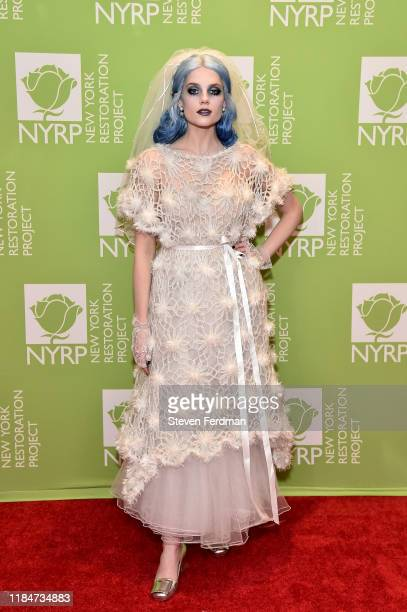 Lucy Boynton attends Bette Midler's 2019 Hulaween at New York Hilton Midtown on October 31, 2019 in New York City.