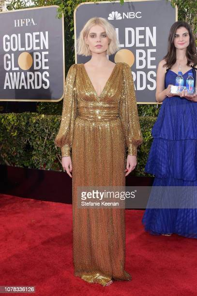 Lucy Boynton attends FIJI Water at the 76th Annual Golden Globe Awards on January 6 2019 at the Beverly Hilton in Los Angeles California