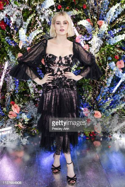 Lucy Boynton attends Rodarte FW19 Fashion Show at The Huntington Library and Gardens on February 05 2019 in San Marino California
