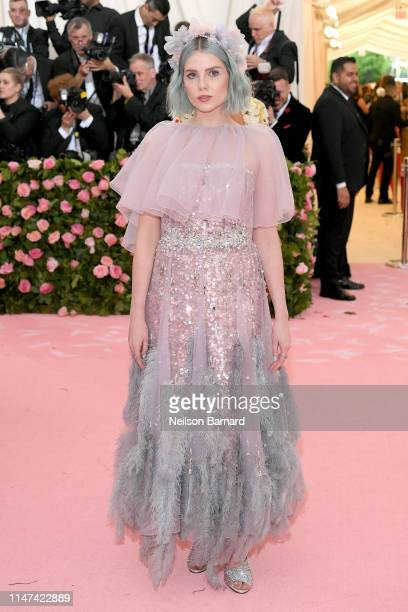 Lucy Boynton attends The 2019 Met Gala Celebrating Camp Notes on Fashion at Metropolitan Museum of Art on May 06 2019 in New York City