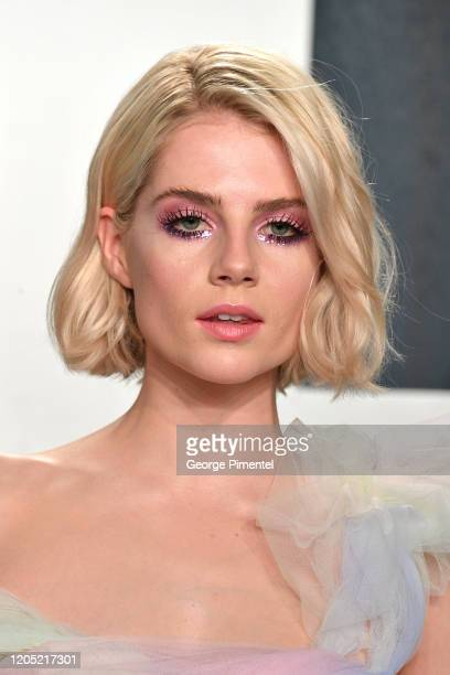 Lucy Boynton attends the 2020 Vanity Fair Oscar party hosted by Radhika Jones at Wallis Annenberg Center for the Performing Arts on February 09, 2020...