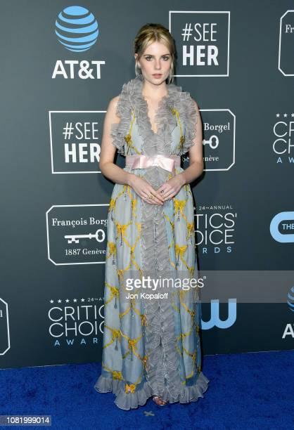 Lucy Boynton attends the 24th annual Critics' Choice Awards at Barker Hangar on January 13 2019 in Santa Monica California