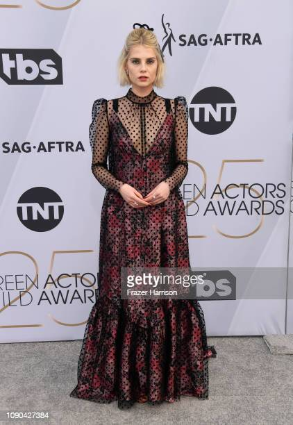 Lucy Boynton attends the 25th Annual Screen Actors Guild Awards at The Shrine Auditorium on January 27 2019 in Los Angeles California