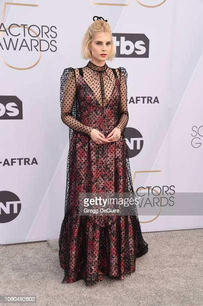 Lucy Boynton attends the 25th Annual Screen ActorsGuild Awards at The Shrine Auditorium on January 27 2019 in Los Angeles California 480645