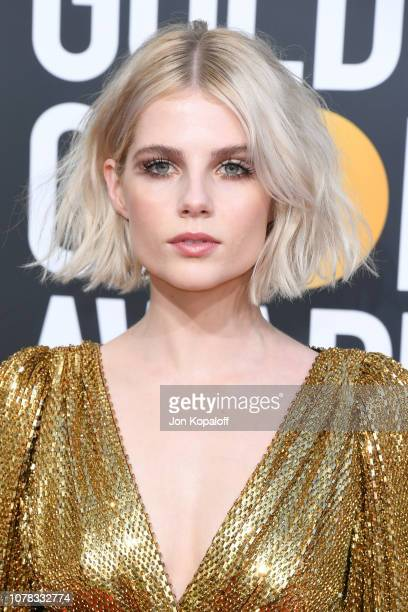 Lucy Boynton attends the 76th Annual Golden Globe Awards at The Beverly Hilton Hotel on January 6 2019 in Beverly Hills California