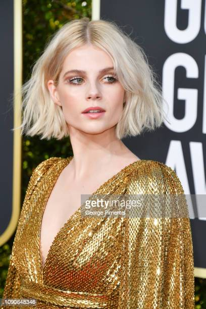 Lucy Boynton attends the 76th Annual Golden Globe Awards held at The Beverly Hilton Hotel on January 06 2019 in Beverly Hills California