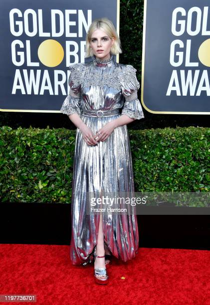 Lucy Boynton attends the 77th Annual Golden Globe Awards at The Beverly Hilton Hotel on January 05 2020 in Beverly Hills California