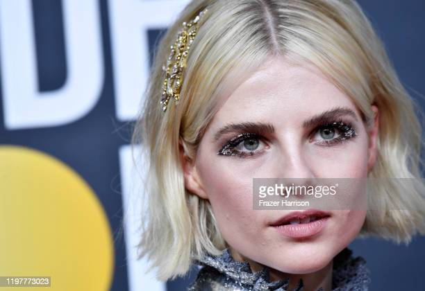 Lucy Boynton attends the 77th Annual Golden Globe Awards at The Beverly Hilton Hotel on January 05, 2020 in Beverly Hills, California.