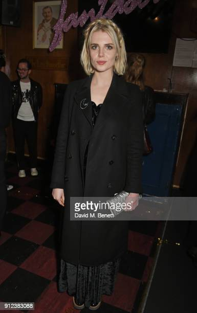 Lucy Boynton attends the ALEXACHUNG Fantastic collection party on January 30 2018 in London England