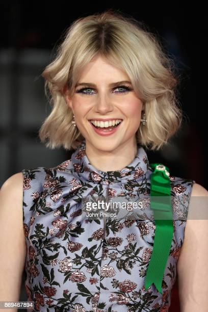 Lucy Boynton attends the 'Murder On The Orient Express' World Premiere at Royal Albert Hall on November 2, 2017 in London, England.