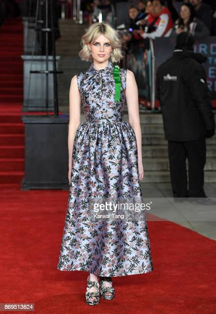 Lucy Boynton attends the 'Murder On The Orient Express' World Premiere at Royal Albert Hall on November 2 2017 in London England