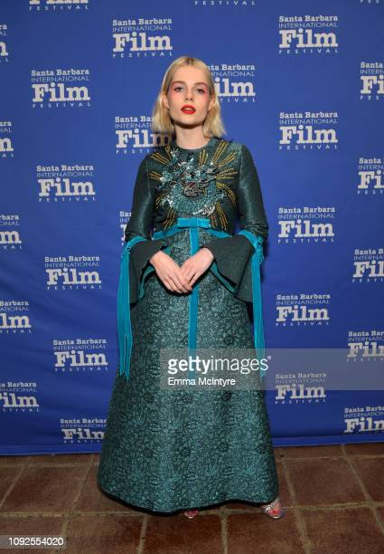 Lucy Boynton attends the Outstanding Performer Award Honoring Rami Malek during 34th Santa Barbara International Film Festival at Arlington Theatre...