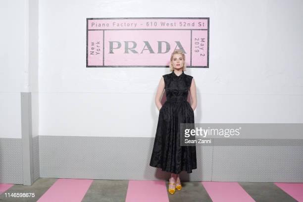 Lucy Boynton attends the Prada Resort 2020 fashion show at Prada Headquarters on May 02 2019 in New York City