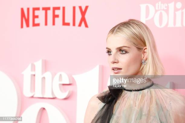 """Lucy Boynton attends the premiere of Netflix's """"The Politician"""" at DGA Theater on September 26, 2019 in New York City."""