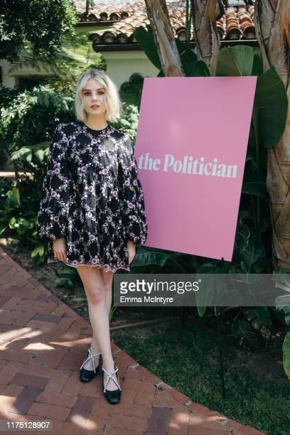 "Lucy Boynton attends the press day for season 1 of Netflix's ""The Politician"" on June 11, 2019 in Santa Barbara, California."