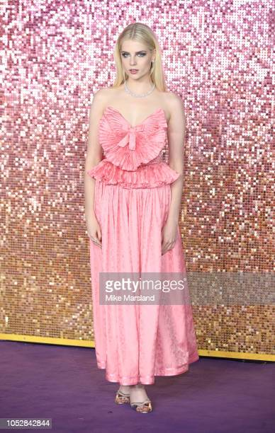 Lucy Boynton attends the World Premiere of 'Bohemian Rhapsody' at The SSE Arena Wembley on October 23 2018 in London England