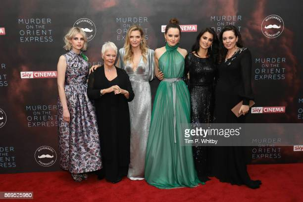 Lucy Boynton Dame Judi Dench Michelle Pfeiffer Daisy Ridley Penelope Cruz and Olivia Coleman attends the 'Murder On The Orient Express' World...