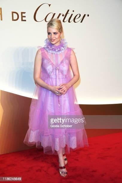 Lucy Boynton during the Clash de Cartier event at la Conciergerie on April 10 2019 in Paris France