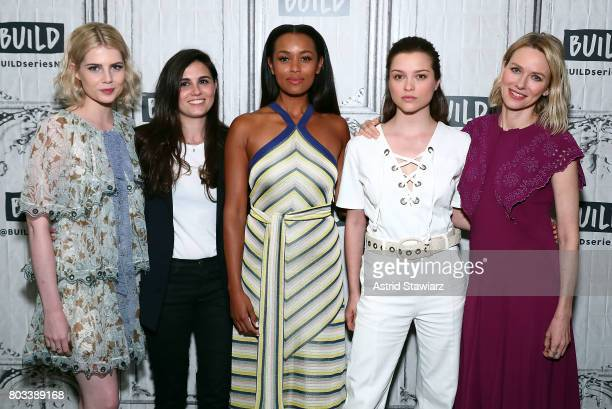 Lucy Boynton Lisa Rubin Melanie Liburd Sophie Cookson and Naomi Watts discuss Netflix's tenpart series 'Gypsy' at Build Studio on June 29 2017 in New...