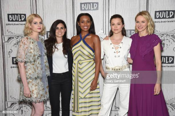 Lucy Boynton Lisa Rubin Melanie Liburd Sophie Cookson and Naomi Watts visit the Build series to discuss the series 'Gypsy' at Build Studio on June 29...