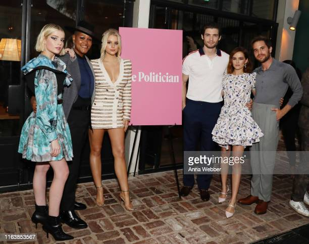 Lucy Boynton Rahne Jones Julia Schlaepfe David Corenswet Zoey Deutch and Ben Platt attend Netflix's The Politician ‑ LA Tastemaker at San Vicente...